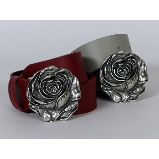 MGM Ledergürtel Damen mit Rose