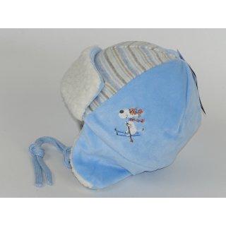 maximo Baby Mütze blau Parkamütze